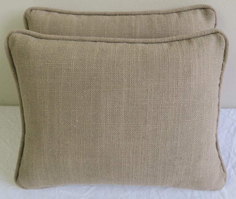 Pink and Silvery Gold Fortuny Textile Pillows, Pair In Excellent Condition For Sale In Los Angeles, CA