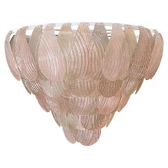 Pink and Smoke Murano Glass Chandelier