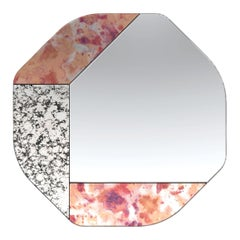 Pink and Speckled WG.C1.B Hand-Crafted Wall Mirror
