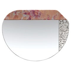 Pink and Speckled WG.C1.E Hand-Crafted Wall Mirror