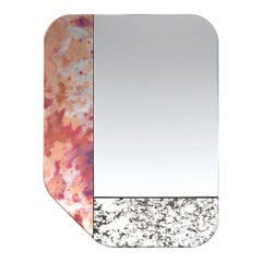 Pink and Speckled WG.C1.F Hand-Crafted Wall Mirror