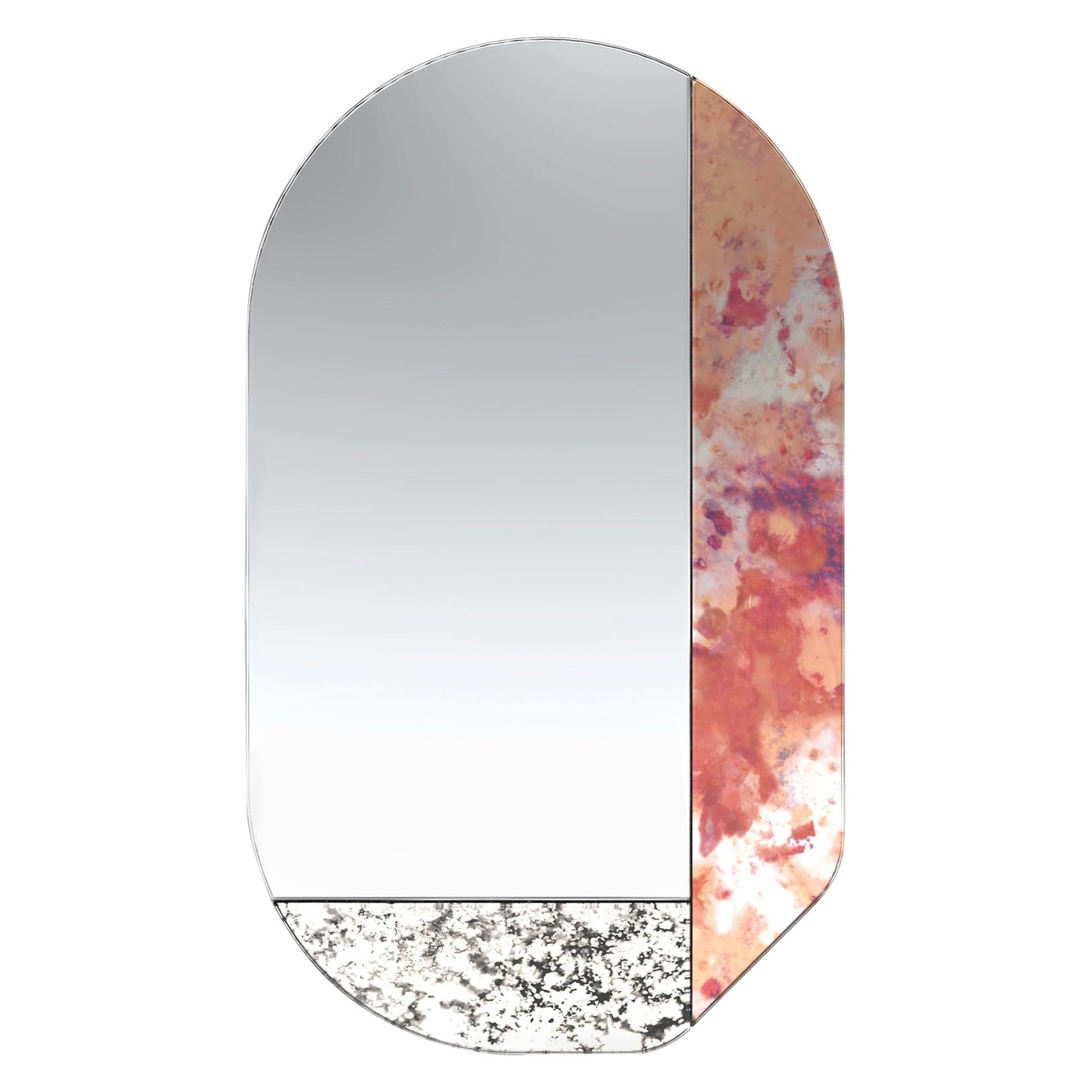 Pink and Speckled WG.C1.G Hand-Crafted Wall Mirror
