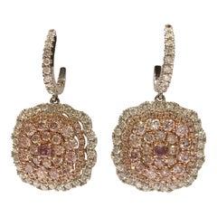 Pink and White Diamond Set in 14 Karat Gold