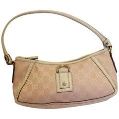 Pink and White Gucci Handbag