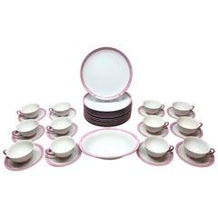 Pink and White Modern Bavarian Porcelain Set