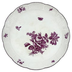 Magenta and White Wedgwood Floral Cake Stand