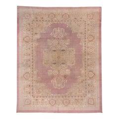 Pink Antique Indian Amritsar Carpet