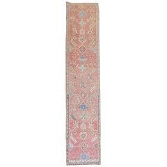 Pink Antique Turkish Oushak Runner