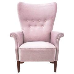 Pink Armchair, Scandinavia, circa 1950