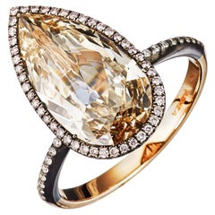 AENEA Candy Pink-Brown Diamond 18k Rose Gold Engagement Ring
