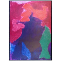"""Jonathan Allmaier Monumental Abstract Painting """"Pink Bumps""""  2013"""