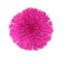 Pink - Cameroon Feather Head Dress Juju Hat