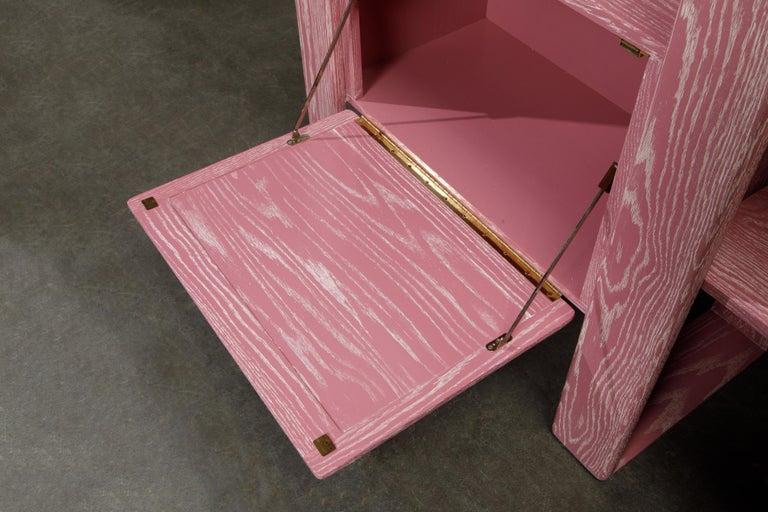 Pink Cerused Oak Modular Bookcase Room Divider by Lou Hodges, 1970s  For Sale 5