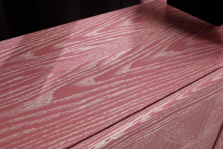 Pink Cerused Oak Modular Bookcase Room Divider by Lou Hodges, 1970s  For Sale 11