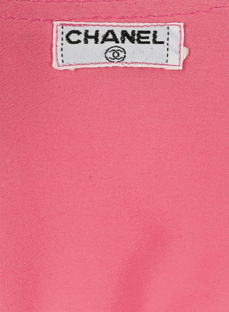 Women's Pink Chanel Silk Soft Jacket For Sale