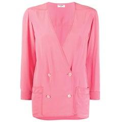 Pink Chanel Silk Soft Jacket
