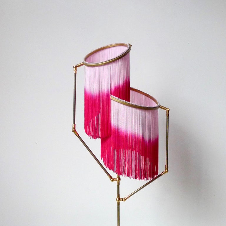 Brass Pink Charme Floor Lamp, Sander Bottinga For Sale
