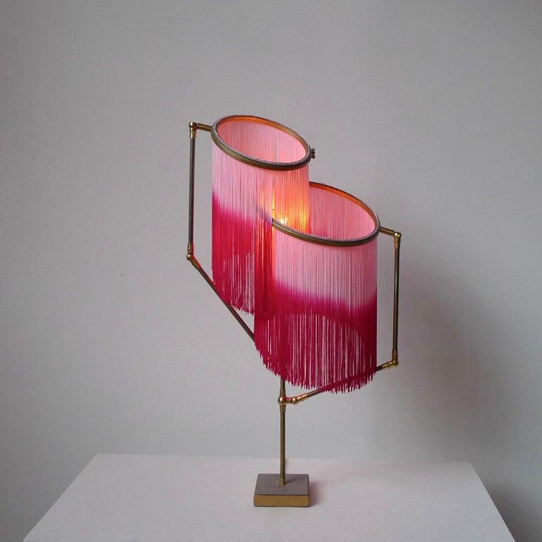 Brass Pink Charme Table Lamp, Sander Bottinga For Sale