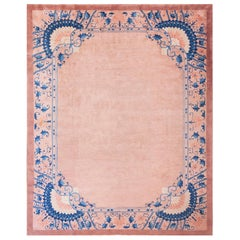 Pink Chinese Art Deco Rug