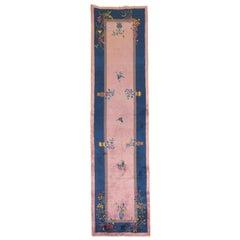 Pink Chinese Art Deco Runner