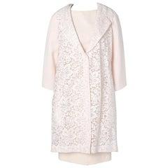Pink Christian Dior vintage dress and coat suit