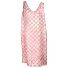 Pink & Cream Escada Polka-Dot Shift Dress