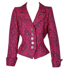 Pink Damask Yves Saint Laurent Rive Gauche Jacket