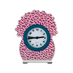 Pink Desk Clock by George Sowden for Neos, Italy, 1980s