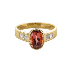 Pink Diamond Engagement Ring Alternative Featuring Rare Imperial Topaz