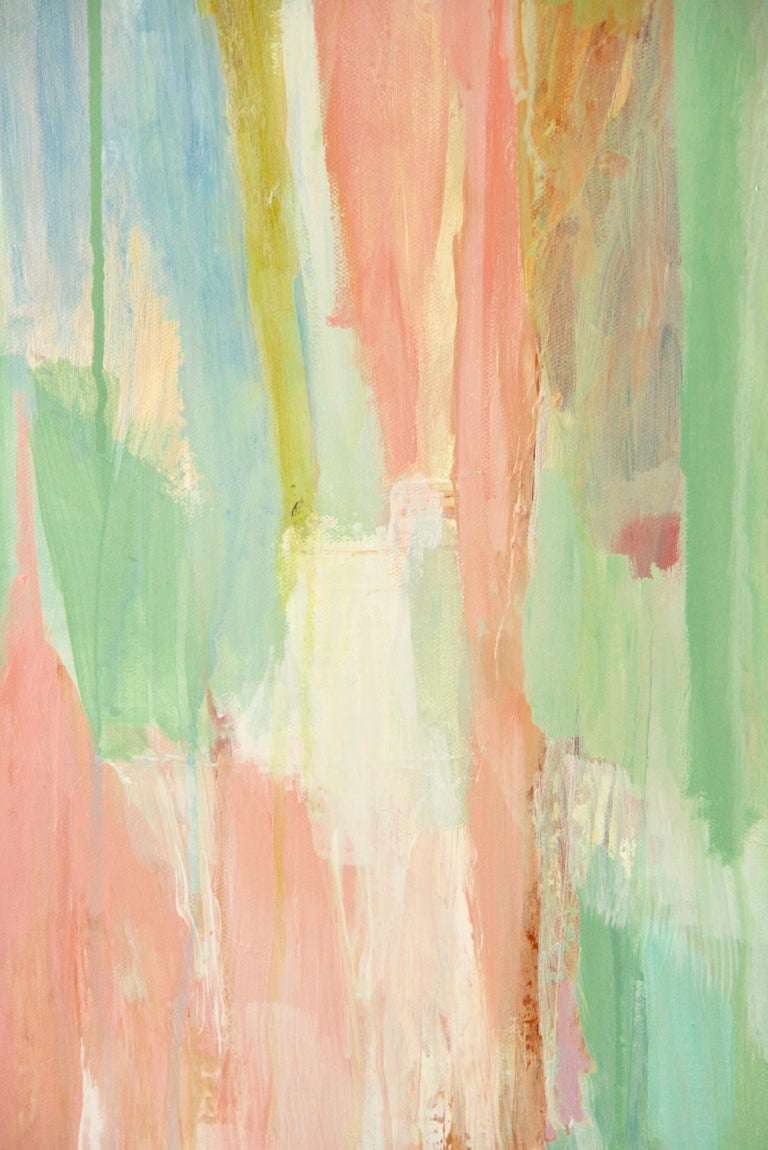 Pink Dripping Abstract Painting For Sale 1