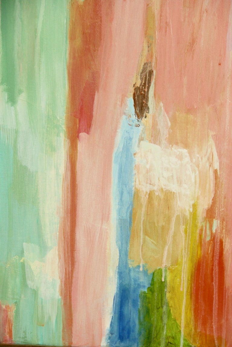 Pink Dripping Abstract Painting For Sale 2