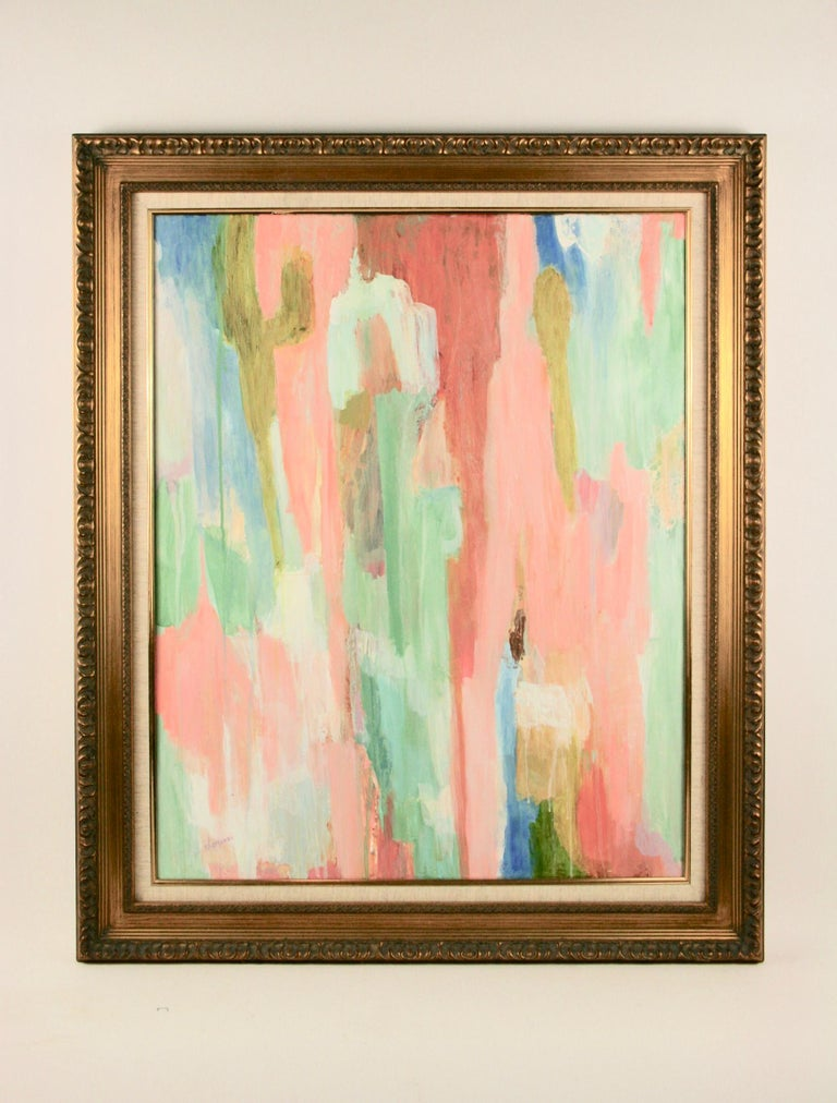 Pink Dripping Abstract Painting For Sale 3