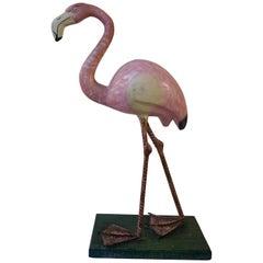 Pink Flamingo Sculpture