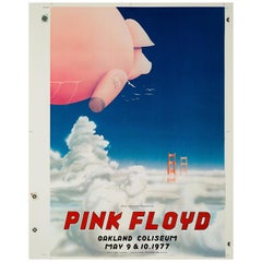 Pink Floyd Original Uncut Printer's Proof Concert Poster, American, 1977