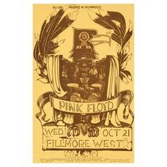 Pink Floyd Original US Concert Poster, Fillmore West, San Francisco, 1970