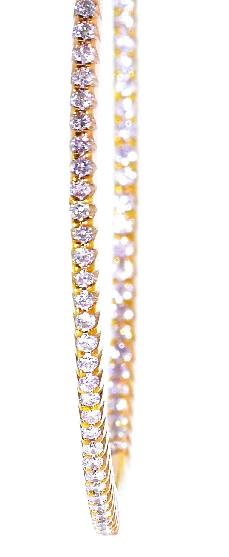 Pink Gold and Diamond Hoops, by Pierre/Famille 1