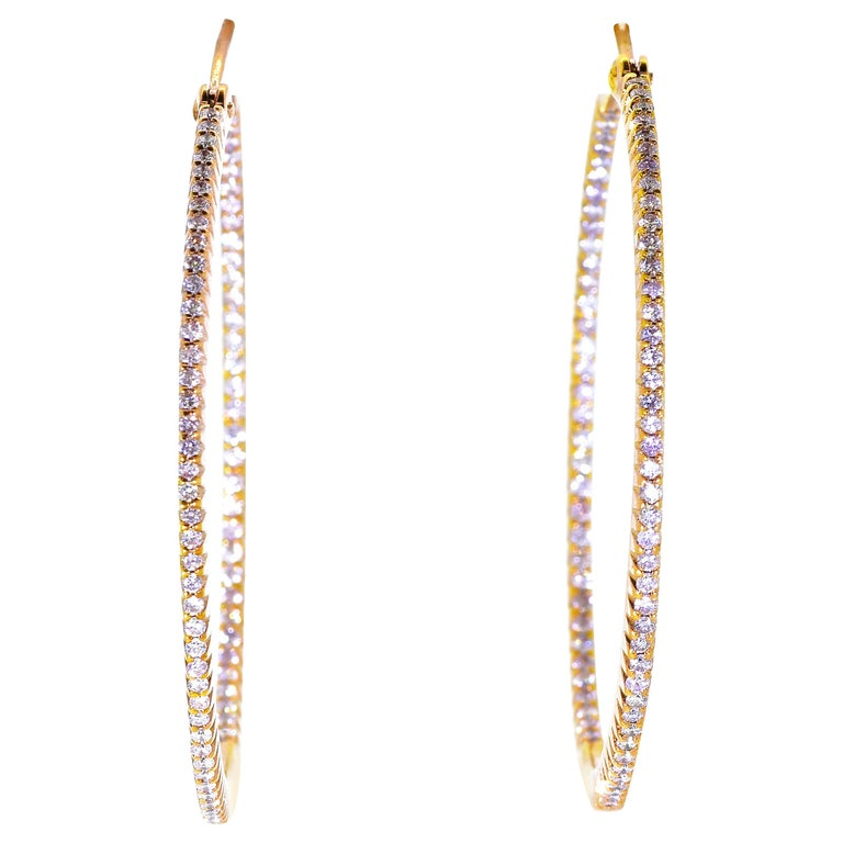 Pink Gold and Diamond Hoops, by Pierre/Famille