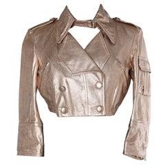 Pink gold Karung short jacket Shiro