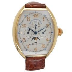Pink Gold Van Der Bauwede Quantième annuel 4saisons Wrist Watch- Limited Edition