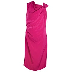 Pink Lanvin Taffeta Sleeveless Dress