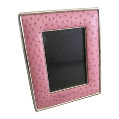 Pink Leather Photo Frame by Fabio Ltd