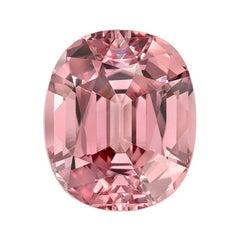 Pink Malaya Garnet Ring Gem 6.69 Carat Oval Loose Gemstone