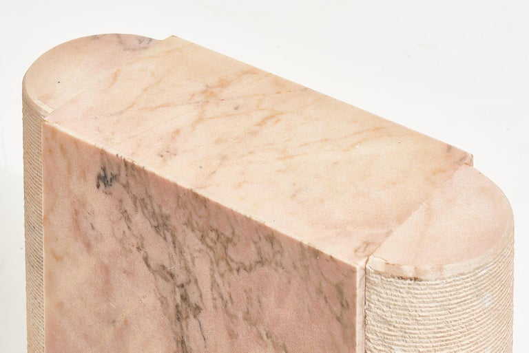 Late 20th Century Pink Marble Side Table, Italy 1970