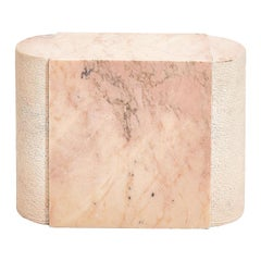 Pink Marble Side Table, Italy 1970