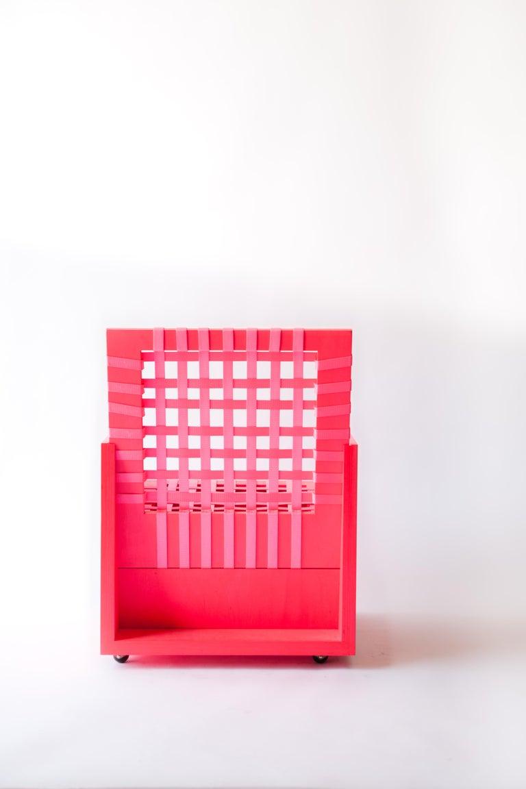 American Pink Mary Heilmann Clubchair 86 by Mary Heillmann For Sale