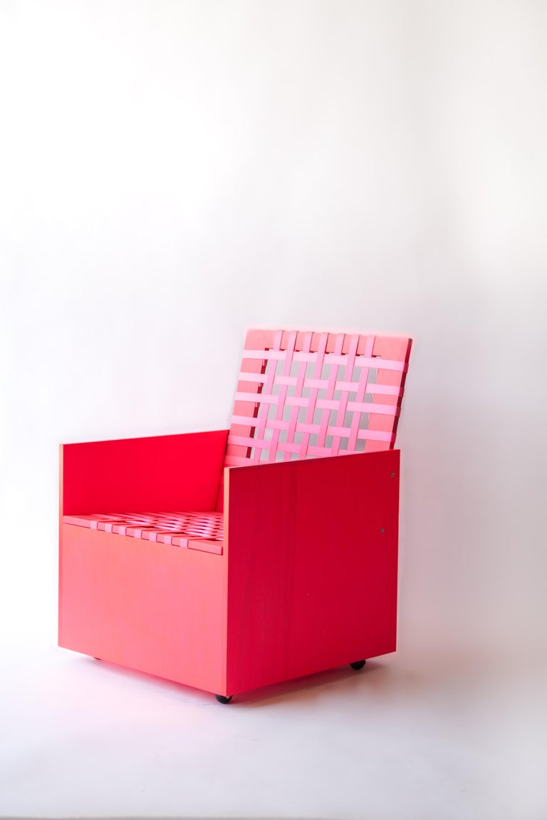 Stained Pink Mary Heilmann Clubchair 86 by Mary Heillmann For Sale