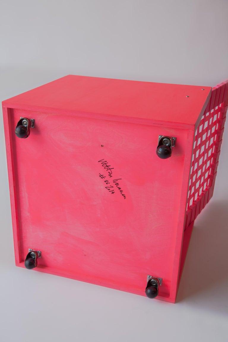 Nylon Pink Mary Heilmann Clubchair 86 by Mary Heillmann For Sale
