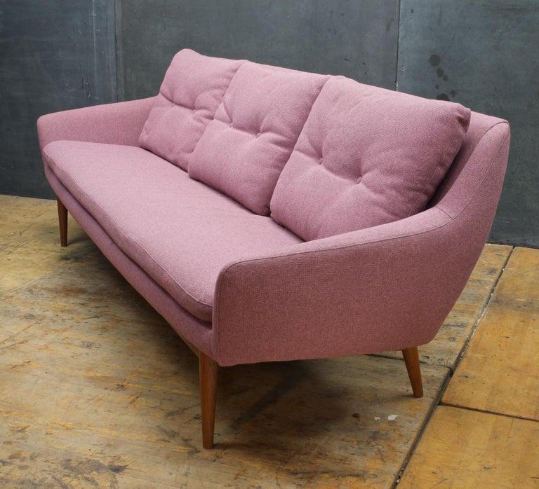 7de273eaa77b Norwegian Pink-Mauve Scandinavian Sofa Vintage 1960s Mid-Century Modern Mad  Men Norway For