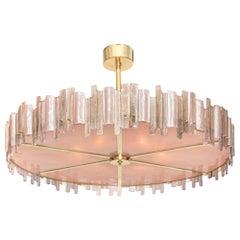 Pink Mazzega Murano Glass Chandelier