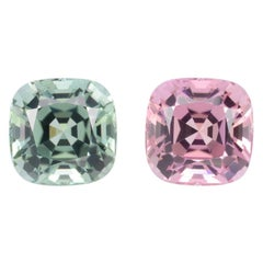 Pink Mint Green Tourmaline Earrings Pair 10.49 Carat